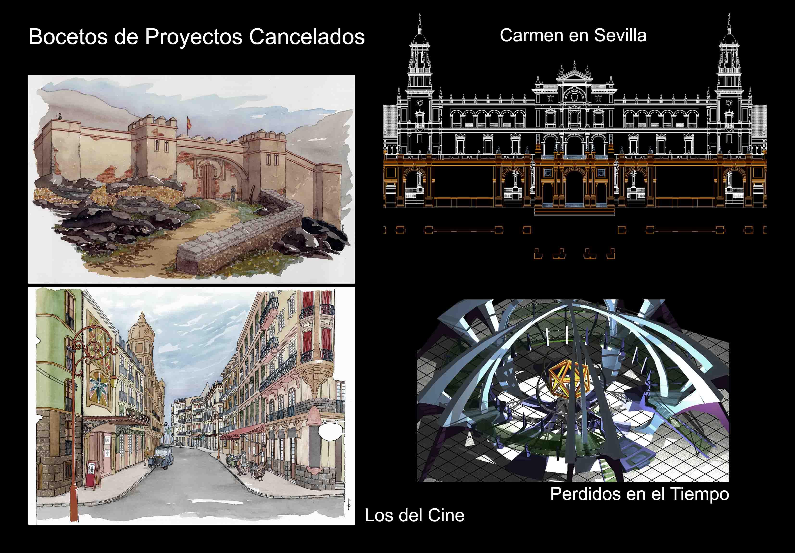David Temprano d2004-2005 Carmen en Sevilla, Los del Cine, Perdidos en el Tiempo 1